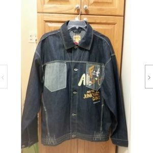 NEW PLATINUM FUBU FAT ALBERT DENIM JACKET